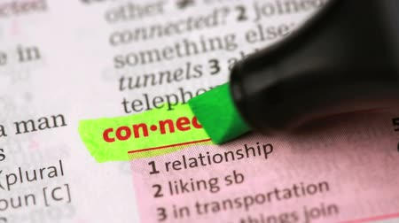 подчеркнул : Definition of connection highlighted in the dictionary