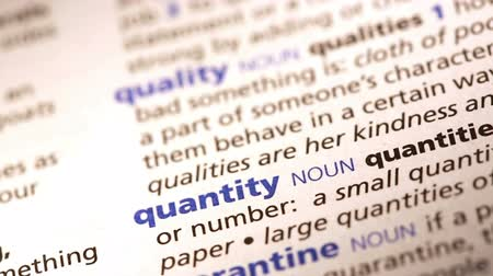 qualidade : Zoom and focus in definition of quantity and quality in dictionary