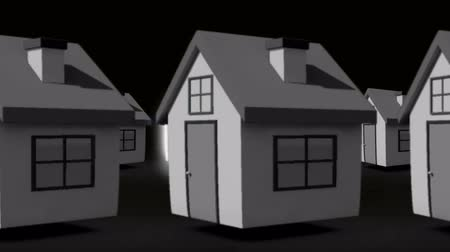real : Finding the perfect house animation in grey  Stock Footage