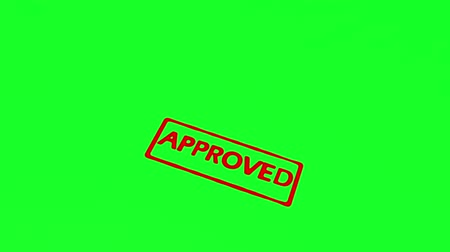 pul : Animation of approved stamp on green screen background