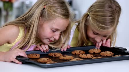 fırınlama : Daughter smelling freshly baked cookies