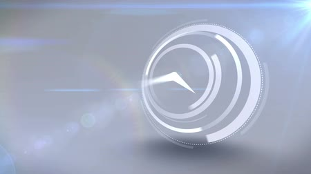 zegar : White clock ticking at speed on light background Wideo