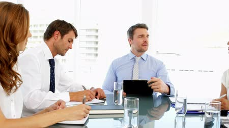 partnerstwo : Business people discussing together during meeting in the office