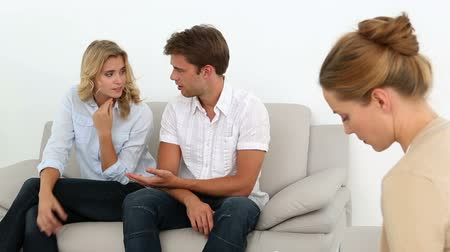 counselling : Couple talking with their therapist at therapy session