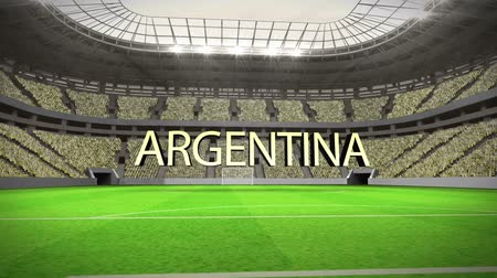 estádio : Group F world cup animation in stadium with text