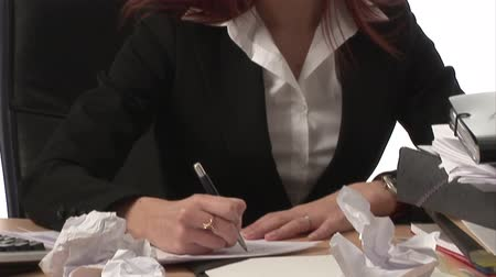 sinir : Stock Footage Frustrated Businesswoman
