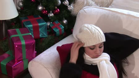 roupas : Lifestyle Stock Video Footage Woman with Christmas Presents