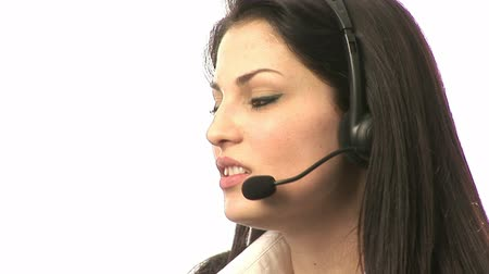 desteklemek : Stock Video Footage of a Businesswoman on Headset