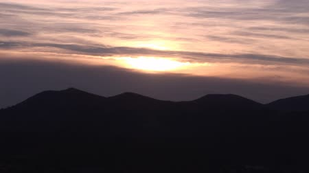 picos : Sunset over Pyrenees Moutains in Spain
