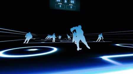 дичь : 3D Fly through Hockey Game