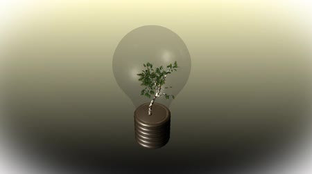 fotoszintézis : LIGHTBULB AND TREE GROWING