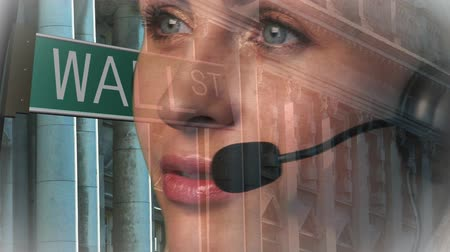 rua : HD footage of a Wall Street Businesswoman on phone smiling