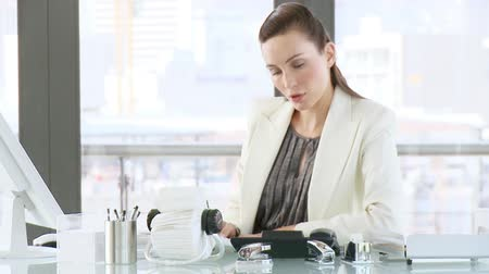 corporate affairs : Businesswoman working in her office department controlling affairs