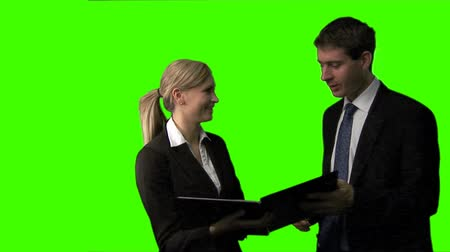 çevre : ChromaKey footage of a Business meeting
