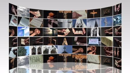 nadzieja : Collage of Religious footage in High Definition Wideo