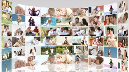 kolaj : Family footage collage in HD 1080p