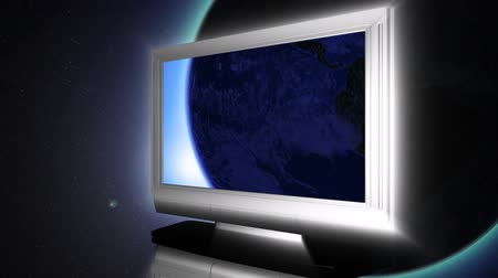 kablo : Globe on LCD Television 1 Stok Video
