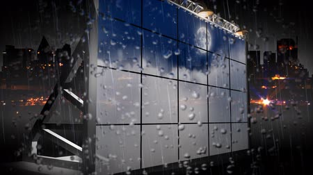 publicity : 3D Billboard and Strong Rain