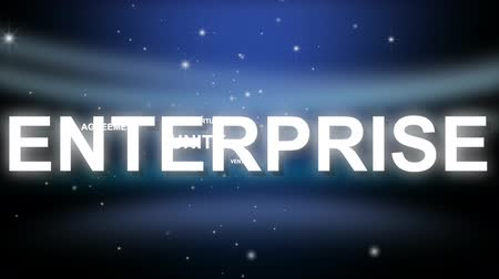 problem : 3D Business Phrases with Stars in the Background Stock Footage