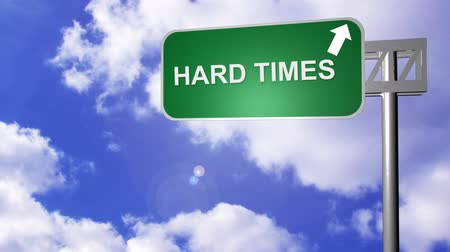 motivasyonel : 3D Hard Times Road Sign