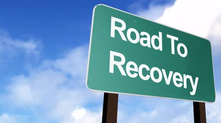 addiction recovery : Road to Recovery Signpost in HD