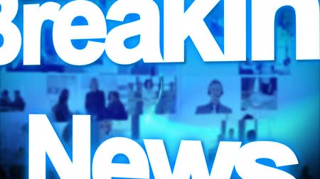 breaking news : 3d Breaking News animation Stock Footage