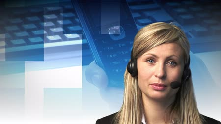 yardım hattı : High Definition Footage of an Attractive Professional woman on a Hotline