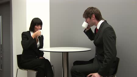 entrevista : Stock Video Footage of Business Colleagues having Coffee Together