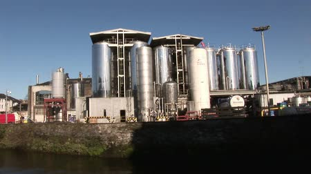 cervejaria : A brewery by the river Stock Footage