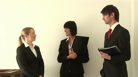 rozhovor : Stock Video Footage of Team of Young Business People