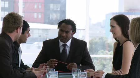 business man : Business meeting in an office Stock Footage