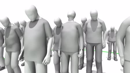 odpowiedzialność : Stepping up to the plate animation. 3D people inside a circle. Concept of responsibility