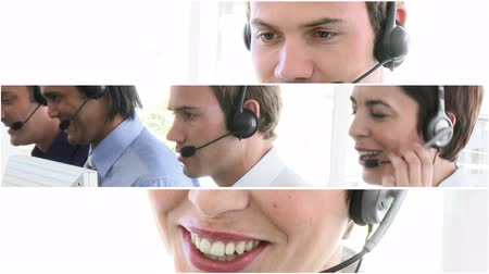 merkez : People in a call centre in HD Stok Video