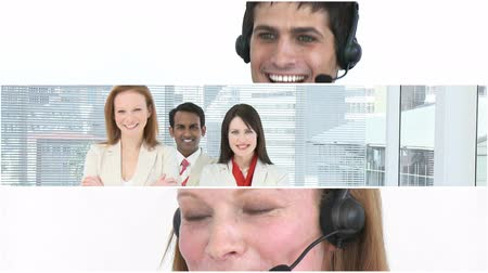vizyon : Business people working in the office in HD Stok Video