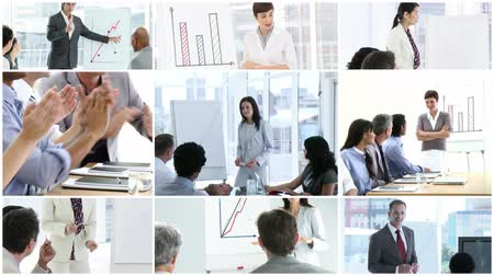 yazılım : Montage of a Business presentation high definition video format Stok Video