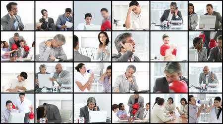 stres : Business people stressed in the office high definition video format