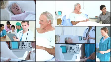 senior lifestyle : Montage of Elderly people in Hospital in Full HD