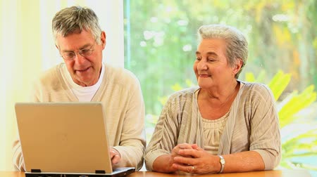 emekli : Senior couple using a laptop at home