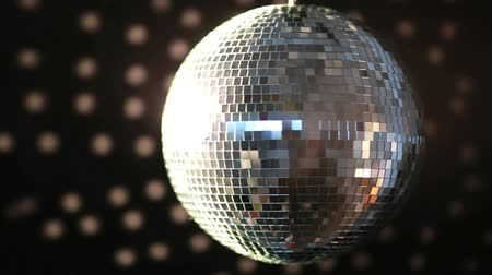 disko : Shiny disco ball turning on black background