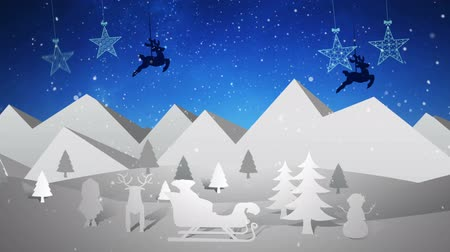 pré natal : Digital animation of Retro christmas tableau with message