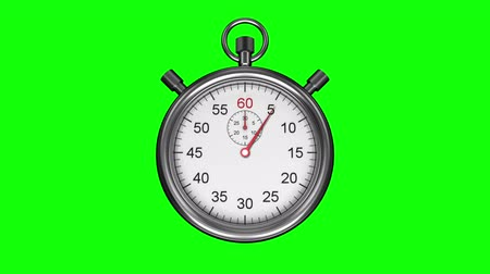 cronômetro : Digital animation of Stopwatch on green background