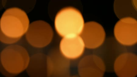 holidays : Small candles burning brightly in the distance Stock Footage