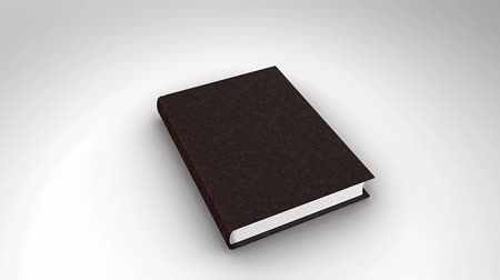 defter : Digital animation of Book opening on white background