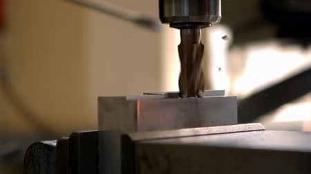 strojírenství : Engineering machine in metal workshop in slow motion