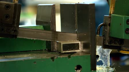 mühendislik : Engineering machine in metal workshop in slow motion