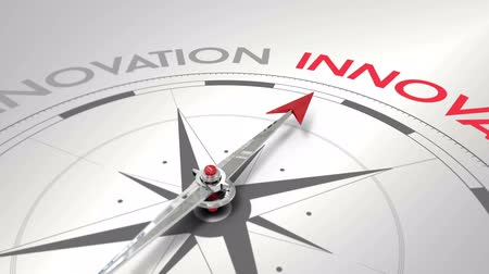 innovation : Digital animation of Compass pointing to innovation