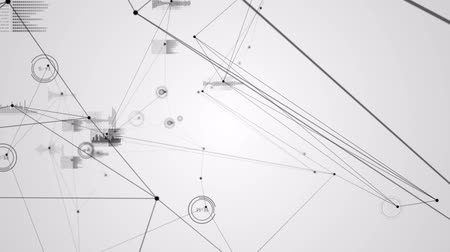 линии : Digital animation of Graph interface with connecting lines