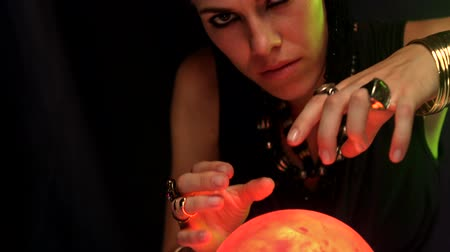 Çingene : Fortune teller using crystal ball in slow motion