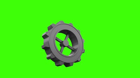 armoni : Digital animation of Cogs and wheels turning on green screen