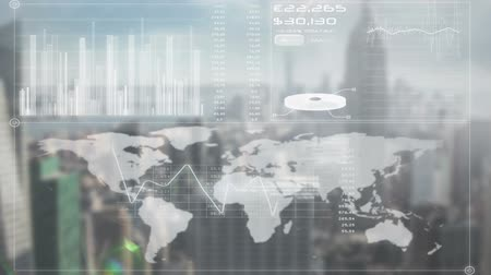 global : Digital animation of Online global business screen Stock Footage